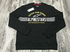 A Alpinestars Bars Fleece Sweater Crew-Neck Sweatshirt Good For Speed Riding M
