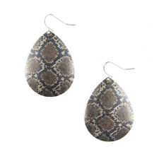 Plunder Design Earrings - Sutton - Metal Snakeskin Print - NEW!