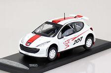Peugeot 207 Sport rot-weiß  1:43 Solido Modellauto Die-cast