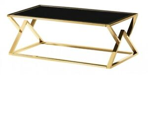 Mombasa Gold Black Glass Coffee Table