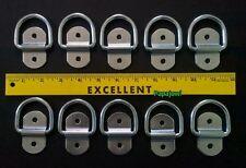 "Trailer D-Rings (10) 1/4"" Tie Down 1000 lb Rope Rings Pickup Bed Cargo Trailer"