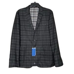 Vince Camuto Sz S Del'Aria Air Jacket Black Gray Check Blazer NWT $295 Slim Fit
