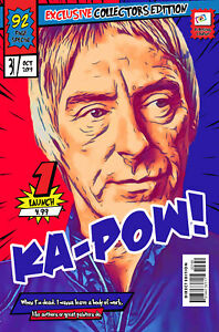 Paul Weller Comic Book Covers Art Print (Available In 4 Formats)