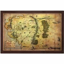 Official The Hobbit 16 x 12 Inch Map of Middle Earth - Collectors LOTR Noble
