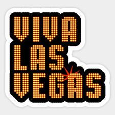Viva Las Vegas Elvis Presley Vinyl Wall Bumper Bottle Phone Decal Sticker Quote