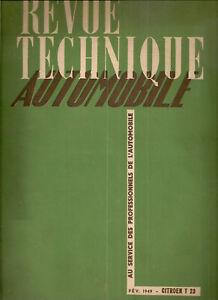 REVUE TECHNIQUE AUTOMOBILE 34 RTA 1949 ETUDE CITROEN T23 LU RU CITROEN TYPE 23
