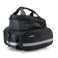 Cycling Bike Rear Saddle Rack Bag Travel Pack Waterproof Expandable Pannier 35L