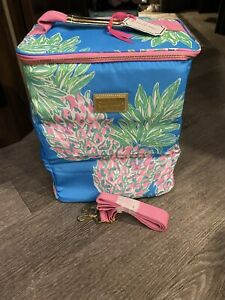 Lilly Pulitzer Insulated Wine Carrier Soft Cooler with Adjustable Strap, NWT $36