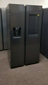 SAMSUNG RS6HA8891B1/EU American-Style family hub Fridge Freezer black steel