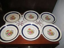 JOHNSON BROS OLD ENGLISH FLORAL SAUCERS SET OF 6 ENGLAND