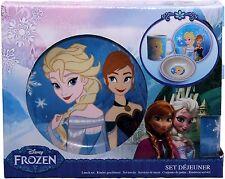 Disney Frozen Three Piece Ceramic Lunch And Dinner Set By BestTrend