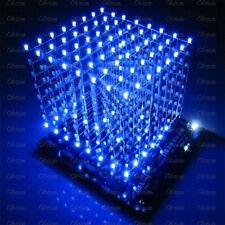3D LightSquared DIY Kit 8x8x8 3mm LED Cube Blue Ray LED M114 New