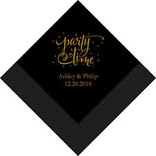 300 Party Time Personalized Wedding Luncheon Napkins