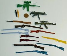 MIXED LOT 16 VARIOUS PLASTIC WEAPONS KNIVES ASSAULT RIFLES LONG RIFLES MUSKETS