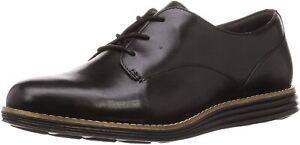 Womens Cole Haan OriginalGrand Plain Oxford - Black Leather, Size 7 M [W15291]