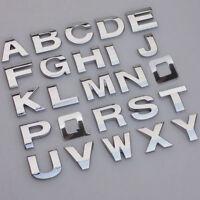 A-Z Alphabet Letter Auto Car Sticker Self Adhesive Badge Emblem 3D Chrome 25mm