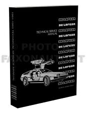 DeLorean Shop Manual 1981-1982-1983 De Lorean Repair Service Book