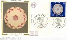 1976**ENVELOPPE SOIE**FDC 1°JOUR**EUROPA-PORCELAINE DE SEVRES**TIMBRE Y/T 1878