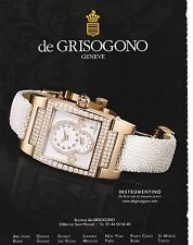 DE GRISOGONO Publicité de Magazine( page de mag) advertisement