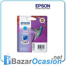 Cartucho de Tinta Epson Color Cyan T0802 Original Nuevo Nov. 2008