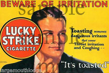 LUCKY STRIKE CIGARETTES WEATHERED BUILDING SIGN DECAL 3X2  MORE SIZES AVAIL