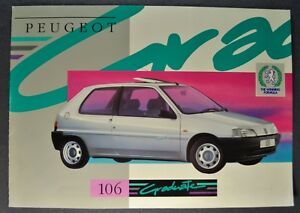 1992-1993 Peugeot 106 Graduate Sales Brochure Folder Excellent Original
