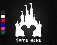 PERSONALISED NAME & MICKEY MOUSE DISNEY CASTLE WALL/DOOR ART VINYL STICKER