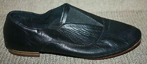 Zensu Black Leather Slip  Flats Comfort Shoes SZ 8