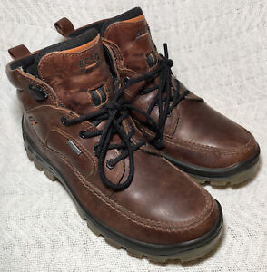 Ecco Men's Track IV High GTX Casual Hiking Leather Boots Gore-Tex Size US 9-9.5