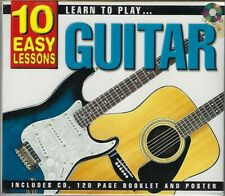 Learn To Play GUITAR  10 Easy Lessons  New Sealed CD with 120 page booklet