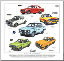 Sport- Ford - Escort Mk I / Mk II - Kunstdruck - Mexiko RS1600 Twin Cam RS2000