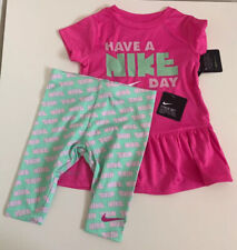 Nwt Nike Girls 2 Piece Legging Set Size 2T Aphid Green