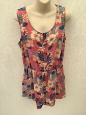 Peacocks, Ladies Summer Floral Playsuit, Size 16, New With Tags