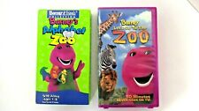 Barney & Friends - Lets Go to the Zoo & Alphabet Zoo VHS Tapes Lot Of Two