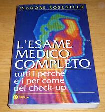 L'ESAME MEDICO COMPLETO Check-up Rosenfeld 1°ediz. MONDADORI Oscar 1995