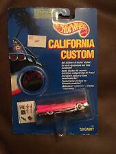 Vintage Hot Wheels California Custom '59 Caddy Cadillac Customize Stickers 1990