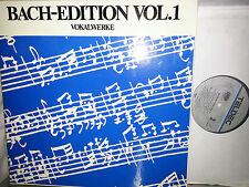 BACH Vol.1 Vokalwerke Vocal Works Harnoncourt Leonhardt 10 LP Teldec 1635236 NM