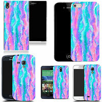 tpu gel  rubber case for Popular Mobile Phones - pastel twirl silicone
