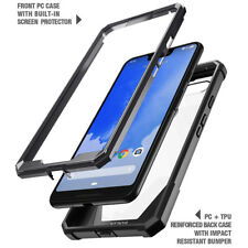 For Google Pixel 3 XL Case Poetic Clear Hybrid Bumper TPU Cover-【Guardian】Black