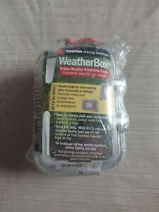 """Cooper Wiring Devices WeatherBox 3 1/4"""" Depth NIB SEALED Free Shipping"""