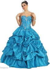 SALE !! QUINCEANERA SWEET 16 DEBUTANTE GOWNS PAGEANT WEDDING MILITARY BALL DRESS