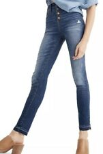 "Madewell 10"" High Rise Skinny Jeans Drop Hem Edition Button Up Sz 24 x34"" EEUC"