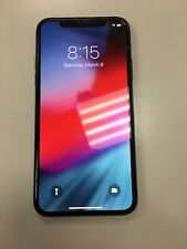 Apple iPhone X - 64GB - Space Gray (AT&T) Cracked Back/Front BAD ESN