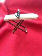 Dollhouse Padded Ironing Board and Antique Type Iron