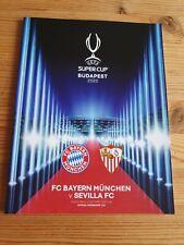 Programm Heft UEFA Super Cup Budapest 2020 FCB FC Bayern München vs. FC Sevilla