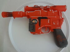 "1996 Star Wars Orange Han Solo Blaster Pistol Gun - Makes Sound 10"" long"
