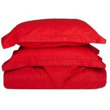 Superior 100% Baumwolle 3-teilige Bettbezug Kissenbezug Set rot gestreift (10-T2