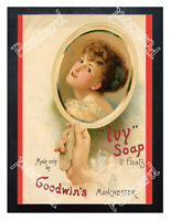 Historic Goodwin's Ivy soap, Salford, Manchester, c.1900 Advertising Postcard