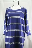 Sport Savvy- Navy Gray Striped- 3/4 Sleeve-Shirt-Size 1X