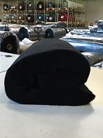 B1 DEKO -MOLTON Stoff Breite 300cm schwarz schwer entflammbar Meterware NEU